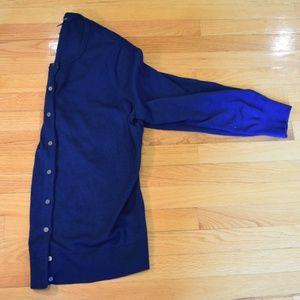 Royal Blue Sweater Cardigan